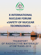 "X International Nuclear Forum ""Safety of Nuclear Technologies: Transport of Radioactive Materials – ATOMTRANS-2015"", St. Petersburg, Russian Federation, 5-9 October, 2015"
