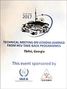 The 11th Technical Meeting on Lessons Learned from High Enriched Uranium Take-back Programmes, Tbilisi, Georgia, 19–22 June 2017