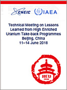 Technical Meeting on Lessons Learned from High Enriched Uranium Take-Back Programmes, Beijing, China, 11-14 June 2018