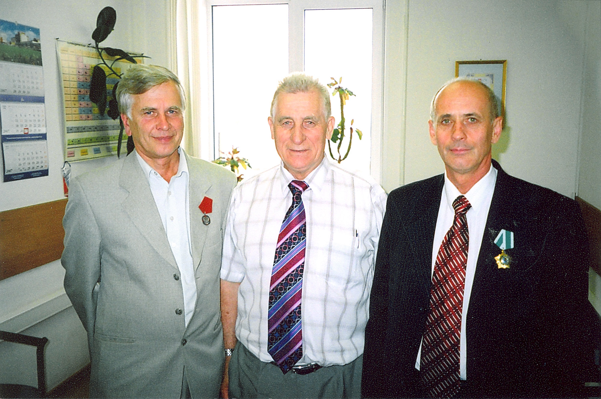 Valery Smirnov, Activities Manager from Sosny R&D Company, (on the extreme right) awarded with the Order of Friendship